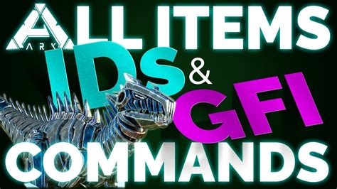 All ITEM IDs & GFI Commands List | Ark Survival Evolved ...