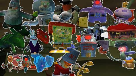 All SpongeBob Video Game Bosses  1080p   BfBB/The Movie ...