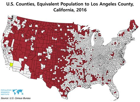 All these U.S. Counties combined have the same population ...