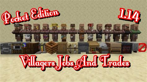 All Villagers Jobs And Trades! | Minecraft   YouTube