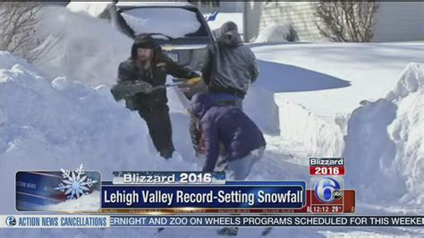 Allentown sets snow record with 31.9 inches during ...