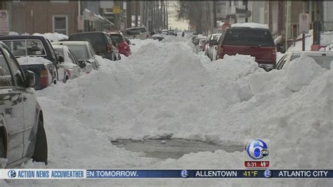 Allentown streets still buried 3 days after storm   6abc ...