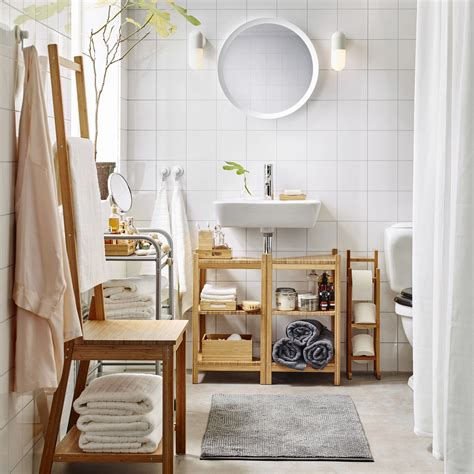 Almacenaje de baño en bambú para unas mañanas zen   IKEA