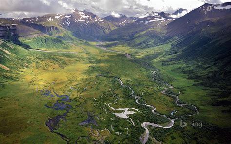 Alpine meandering rivers Bing theme wallpaper Preview ...