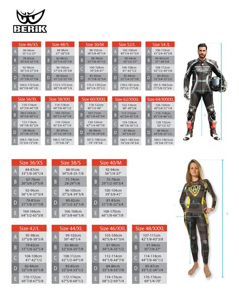 Alpinestars Motorcycle Race Suit Size Chart ...