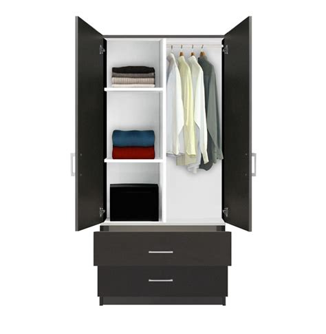 Alta Wardrobe Armoire   2 Drawer Wardrobe, Shelves ...
