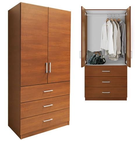 Alta Wardrobe Armoire   3 External Drawers | Contempo Space