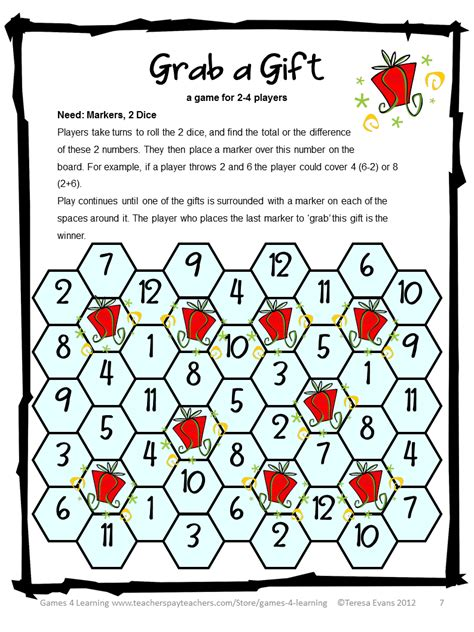 alternative games: Christmas Math Games