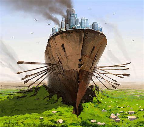 Alternative Mythological Paintings : Dystopian Worlds