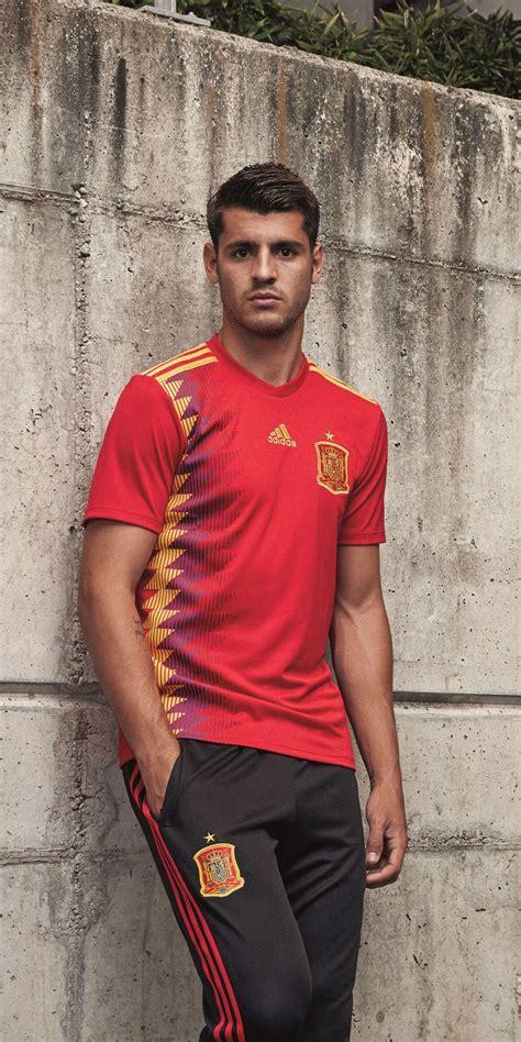 Alvaro Morata in the adidas 2018 Spain home jersey ...