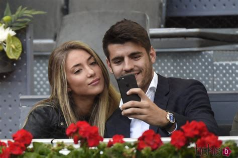 Álvaro Morata y Alice Campello en el Open de Madrid 2017 ...