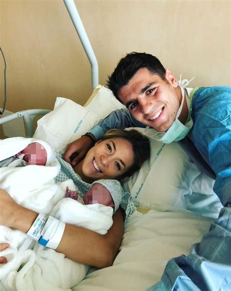 Álvaro Morata y Alice Campello ¡ya son padres de gemelos ...