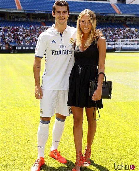 Álvaro Morata y su novia en la presentación del jugador ...