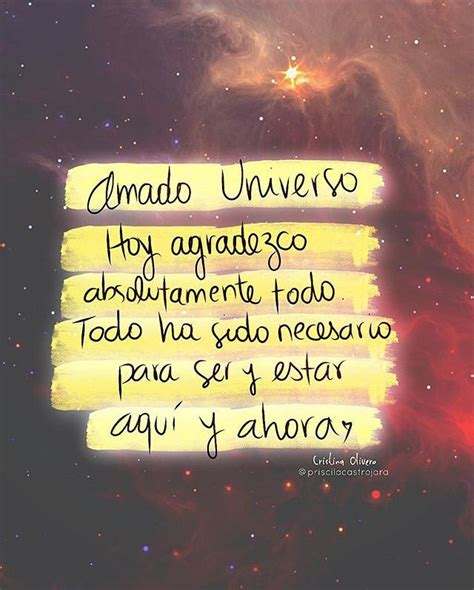 Amado universo... | Frases, Frases motivadoras y Frases ...