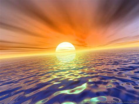 Amazing Sea Sunset, beautiful, ocean, sun, sunset 10879