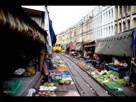 AMAZING Thailand: TRAIN TRACK market at Maeklong, Samut ...