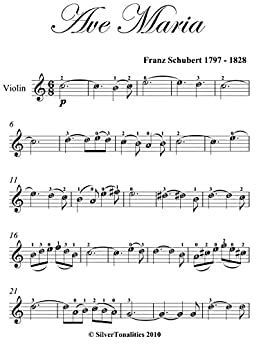Amazon.com: Ave Maria Schubert Easy Violin Sheet Music ...