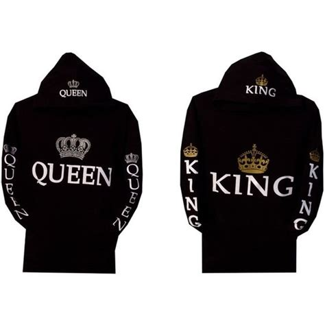 Amazon.com: Couple Matching King and Queen Hoodie Color ...