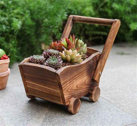 Amazon.com : Danmu Wood Wagon Flower Planter Outdoor ...