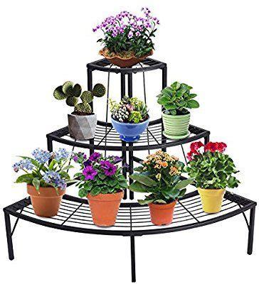 Amazon.com : DOEWORKS 3 Tier Plant Stand Flower Pot Rack ...