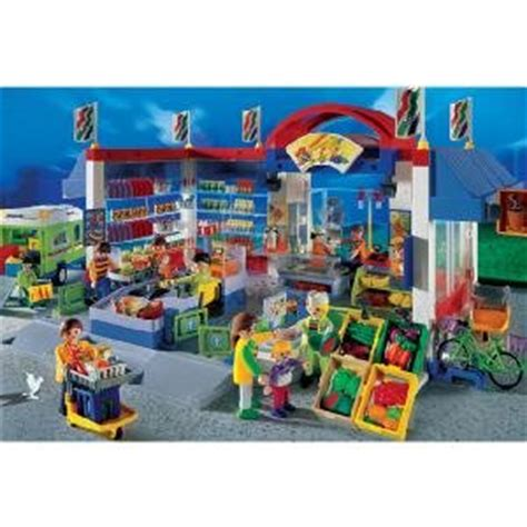 Amazon.com: Playmobil Supermarket Sets  Fully Accessaried ...