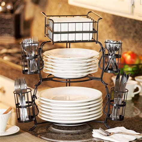 Amazon.com | Stackable Buffet Caddy Set 7 pieces: Serving ...