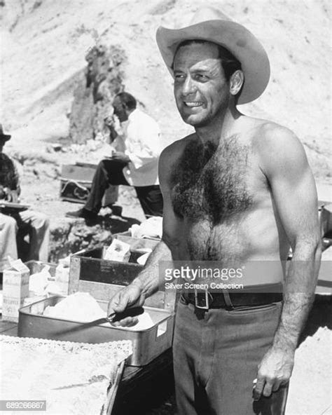 American actor William Holden on the set of the film ...