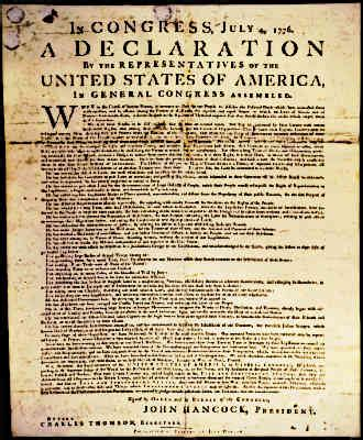 American Declaration of Independence 1776