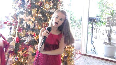 American girl singing Russian Christmas Song!   YouTube