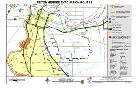 American River South Evacuation Route 6 Map