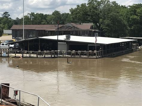 Amite River inches from getting into Fred's on the River