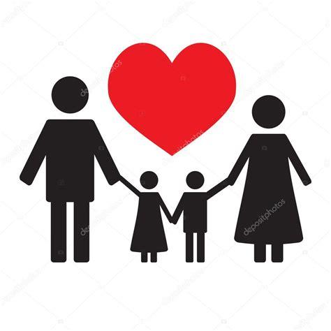 Amor familiar feliz — Archivo Imágenes Vectoriales ...