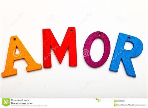 Amor word stock photo. Image of symbol, english ...