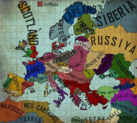 An Alternate Europe   Map 1.0 by AenMaps.deviantart.com on ...