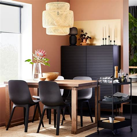 An earthy and sustainability focused dining room   IKEA