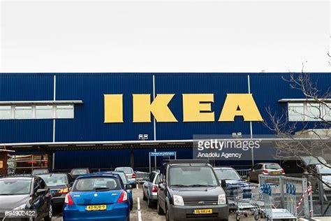 An IKEA logo is seen on an IKEA store in Amsterdam ...