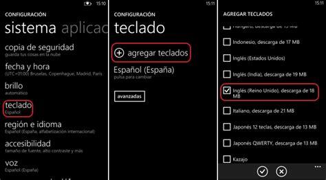 Añade o quita idiomas en el teclado de Windows Phone