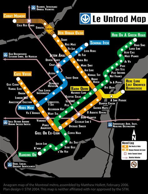 Anagram Metro Map : montreal