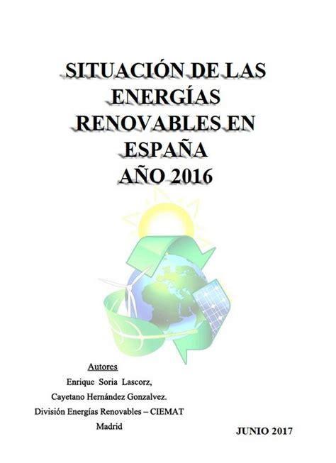 Análisis de la situación de las energías renovables en ...