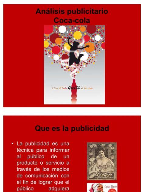 Análisis publicitario COCA COLA