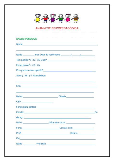 Anamnese Psicopedagógica   Baixar pdf de Docero.com.br