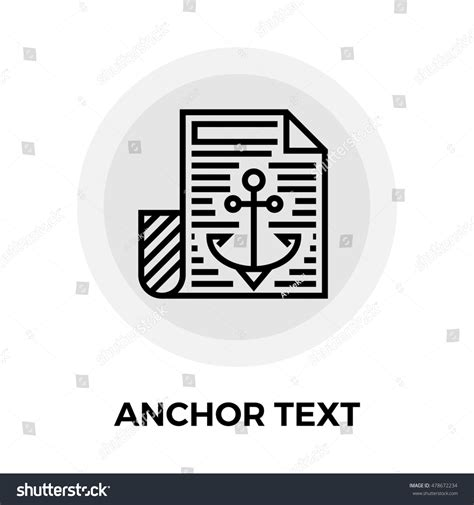Anchor Text Icon Isolated On White Stock Illustration ...