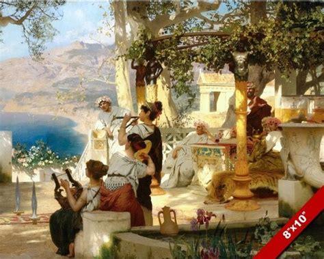 ANCIENT ROMAN ENTERTAINMENT PARTY MUSIC PAINTING ROME ART ...