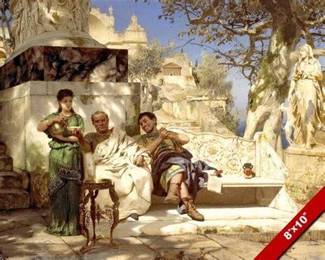 ANCIENT ROMAN MEN IN REPOSE SIESTA REST PAINTING ROME ART ...