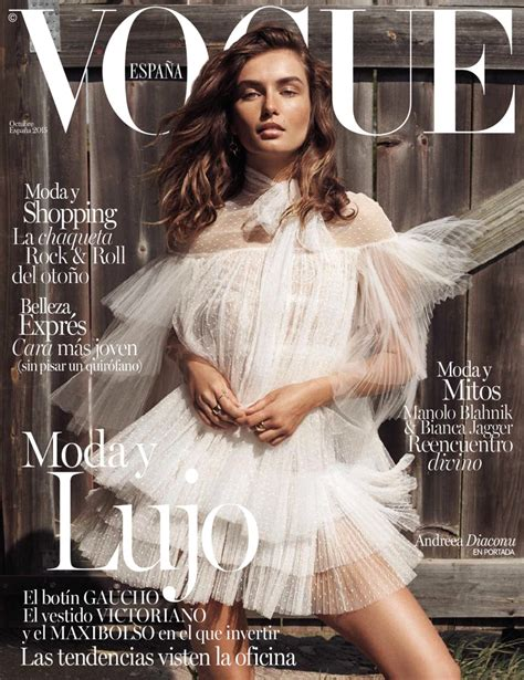 Andreea Diaconu Lives the Simple Life in Vogue Spain Cover ...