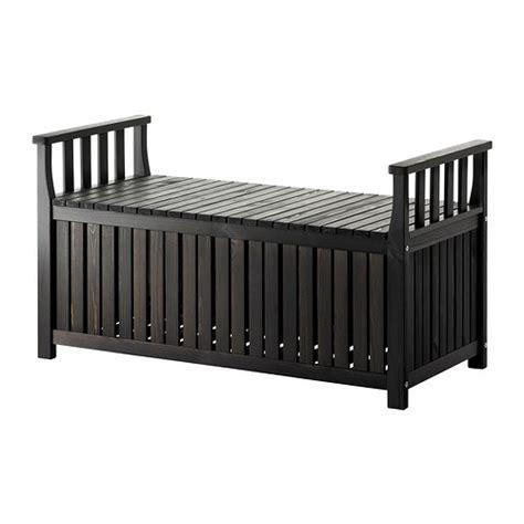 ÄNGSÖ Storage bench, outdoor   black brown,   IKEA