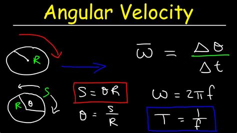 Angular Velocity Physics Problems, Linear Speed, Frequency ...
