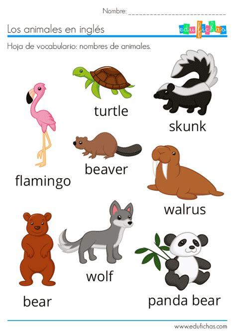 ANIMALES EN INGLÉS | Animales en ingles, Ingles para ...