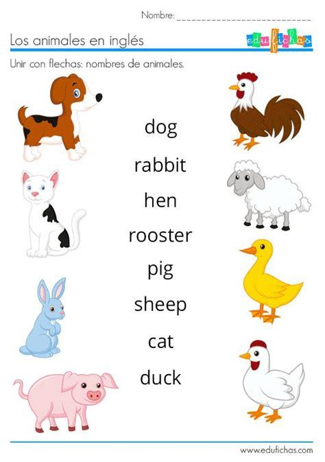 ANIMALES EN INGLÉS | Vocabulario + Ejercicios + Flashcards ...