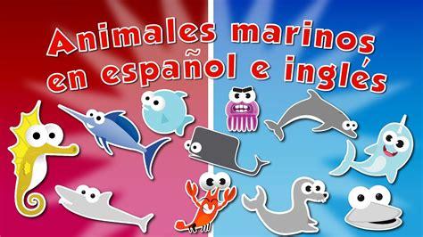 Animales Marinos en español e inglés para niños   Videos ...